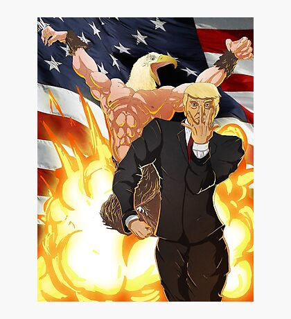 Trump's Bizarre Election - Jojo's Bizarre Adventure Trump Photographic Print
