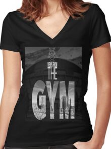Views From The Gym Women's Fitted V-Neck T-Shirt