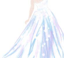 Blue Ice Gown Sticker
