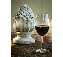 Wine and Sculptures Photographic Print
