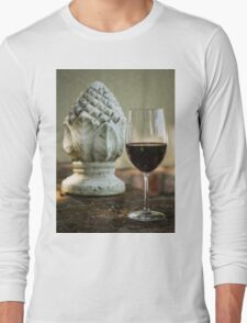 Wine and Sculptures Long Sleeve T-Shirt