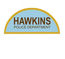 HAWKINS POLICE DEPARTMENT - stranger things Photographic Print