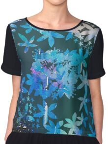 Double exposure water color painting Chiffon Top