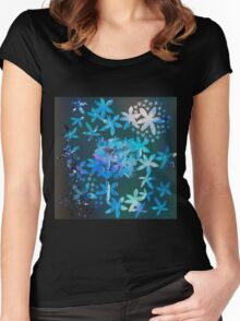 Double exposure water color painting Women's Fitted Scoop T-Shirt