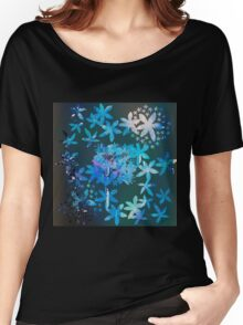 Double exposure water color painting Women's Relaxed Fit T-Shirt