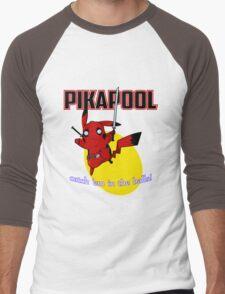Pikapool Men's Baseball ¾ T-Shirt