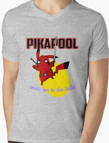 Pikapool Mens V-Neck T-Shirt