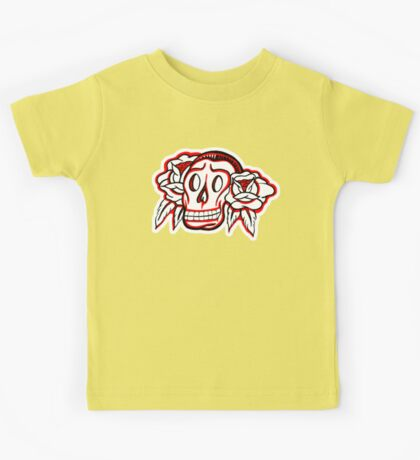 """Bold-School"" Candy Skull. Kids Tee"