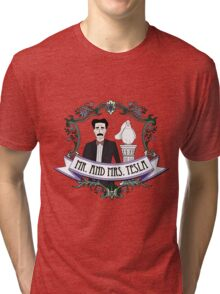 Mr. And Mrs. Tesla Tri-blend T-Shirt