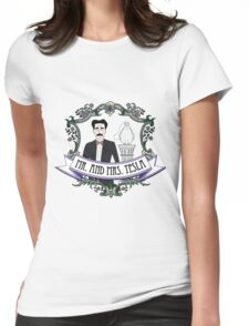 Mr. And Mrs. Tesla Womens Fitted T-Shirt