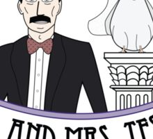 Mr. And Mrs. Tesla Sticker