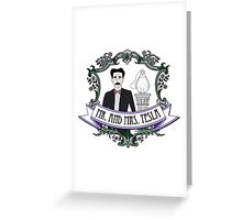 Mr. And Mrs. Tesla Greeting Card