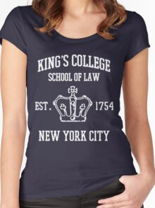 HAMILTON BROADWAY MUSICAL King's College School of Law Est. 1854 Greatest City in the World Women's Fitted Scoop T-Shirt