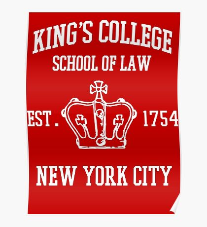 HAMILTON BROADWAY MUSICAL King's College School of Law Est. 1854 Greatest City in the World Poster