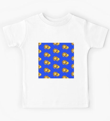 Cute lions,deep blue background,pattern,kid,kids,fun,happy Kids Tee