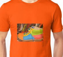 MULTI COLOURED SHOE Unisex T-Shirt