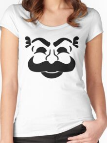 F Society Face Women's Fitted Scoop T-Shirt