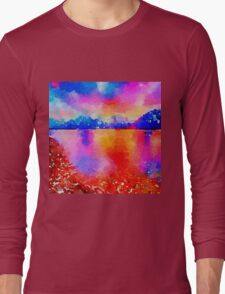 Beautiful,landscape painting,water color Long Sleeve T-Shirt