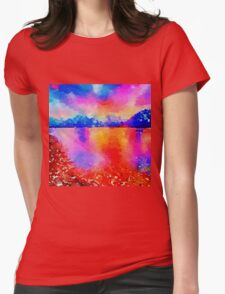 Beautiful,landscape painting,water color Womens Fitted T-Shirt