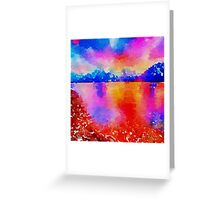 Beautiful,landscape painting,water color Greeting Card