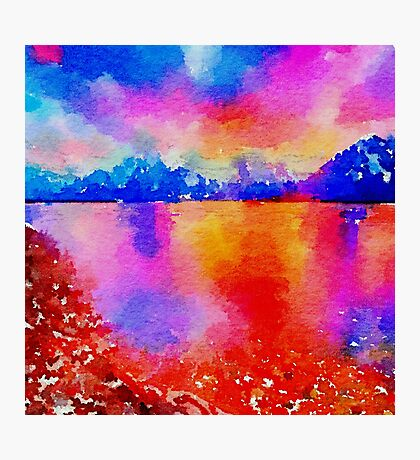 Beautiful,landscape painting,water color Photographic Print