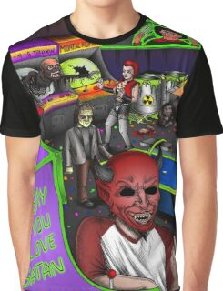Post-Apocalyptic Arcade - The Monster Squad - Splatterhouse - Critters - The Gate - Friday the 13th - Return of the Living Dead Graphic T-Shirt