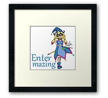 Trump Witch - Entermazing Framed Print