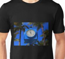 Fort Myers Beach Clock - horizontal Unisex T-Shirt