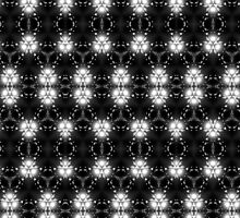 Black and white patterned kaleidoscope. by Qnita
