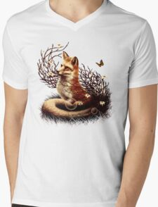 The Fox Tale Mens V-Neck T-Shirt