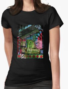 Carnival Clutter with wax crayons Womens Fitted T-Shirt