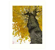 Tall Tree Yellow (2) Art Print