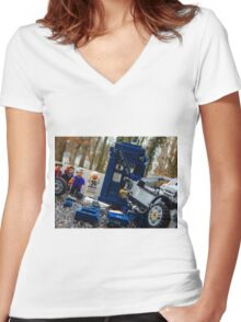 Time Collision Women's Fitted V-Neck T-Shirt