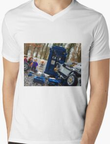 Time Collision Mens V-Neck T-Shirt