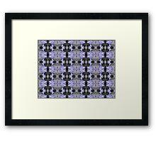 Agapanthus Coloursplash Pattern Framed Print