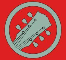 Guitar player green Kids Tee