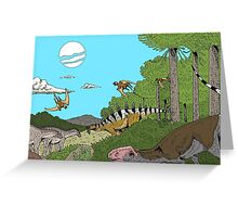 Middle Jurassic China Greeting Card