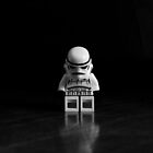 Black and White Stormtrooper by stephenstoys