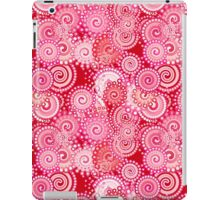 Fractal Swirl Pattern, Red and Hot Pink iPad Case/Skin