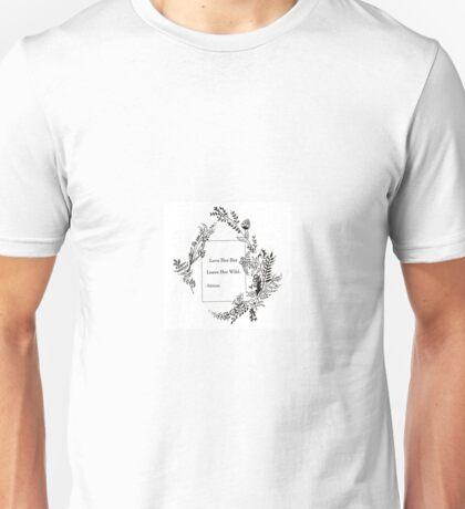 Wildflower Flower Quote Unisex T-Shirt