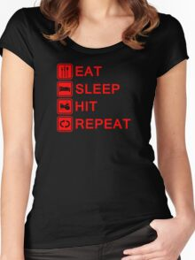 Drummer Eat Sleep Hit Repeat Women's Fitted Scoop T-Shirt