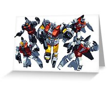 Transformers Aerialbots by BX Greeting Card