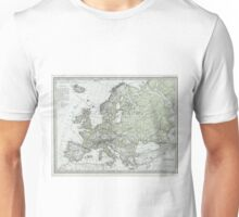Vintage Map of Europe (1862) Unisex T-Shirt