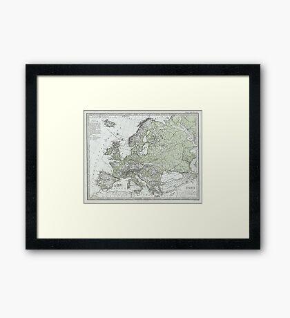 Vintage Map of Europe (1862) Framed Print