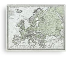 Vintage Map of Europe (1862) Canvas Print