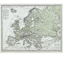 Vintage Map of Europe (1862) Photographic Print