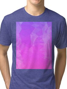 Blue Pink Ombre Polygon Tri-blend T-Shirt