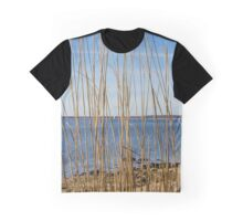 View On Long Beach Bar Lighthouse | Orient, New York Graphic T-Shirt