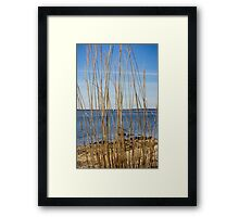 View On Long Beach Bar Lighthouse | Orient, New York Framed Print