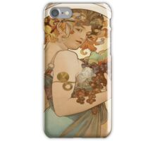 Vintage poster - Woman with fruit iPhone Case/Skin